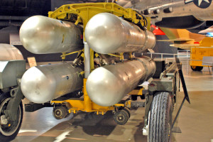 DAYTON, Ohio - Mark 28 Thermonuclear Bomb on display at the National Museum of the U.S. Air Force. (U.S. Air Force photo)